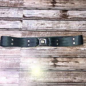 Vintage car seatbelt buckle belt studded black